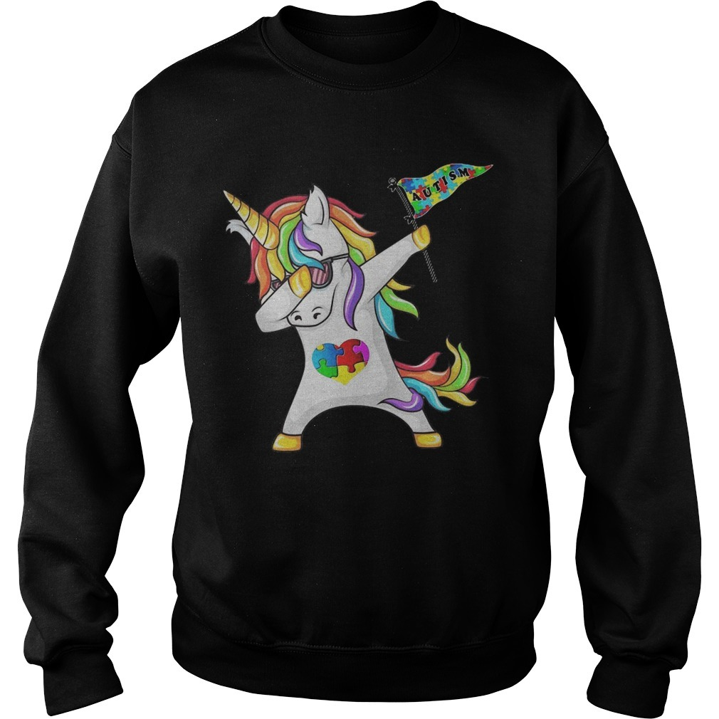 Unicorn Dabbing Autism Flag Sweater