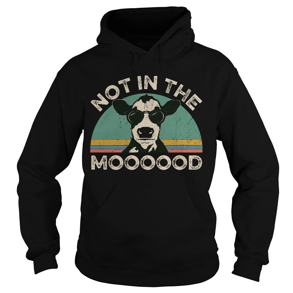 Vintage Heifer Not In The Mood Hoodie