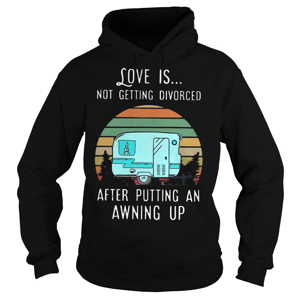 Vintage Love Is Not Getting Divorced After Putting An Awning Up Hoodie