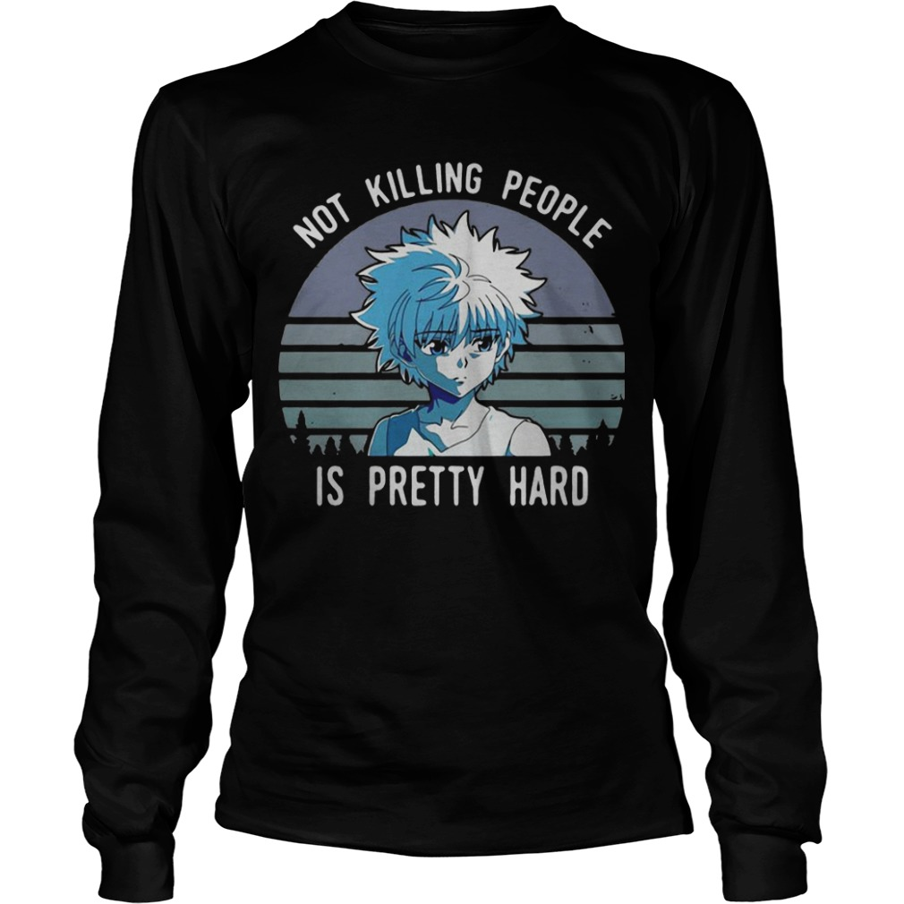 Vintage Sunset  Killua Not Killing People Is Pretty Hard Longsleeve Tee