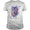 Wolf Fight Like A Warrior Fbromyalgia Awareness Shirt