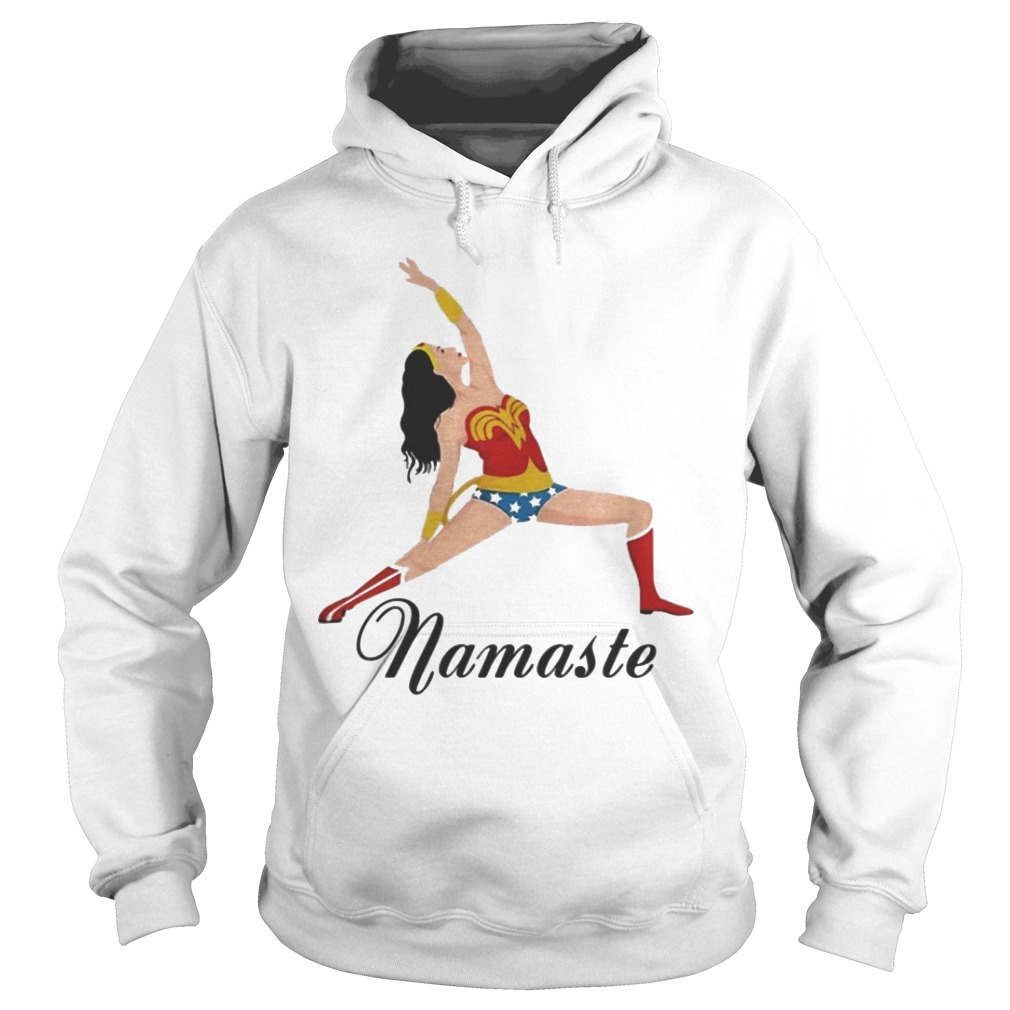 Wonder Woman Doing Yoga Namaste Hoodie