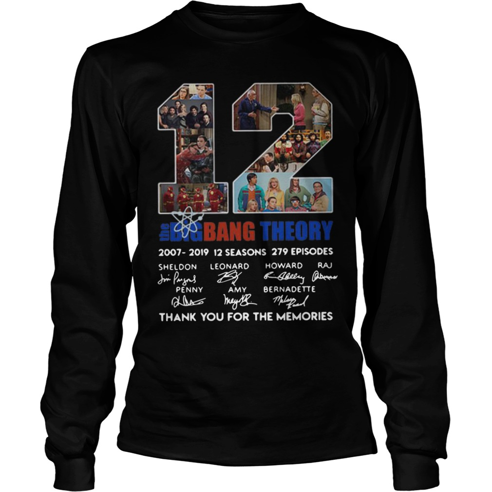 12 Years The Big Bang Theory Thank You For The Memories Longsleeve Tee