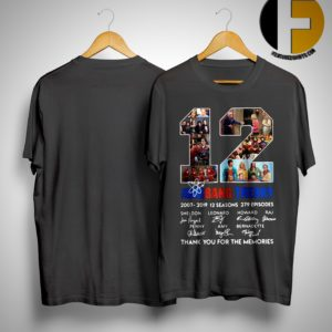 12 Years The Big Bang Theory Thank You For The Memories Shirt
