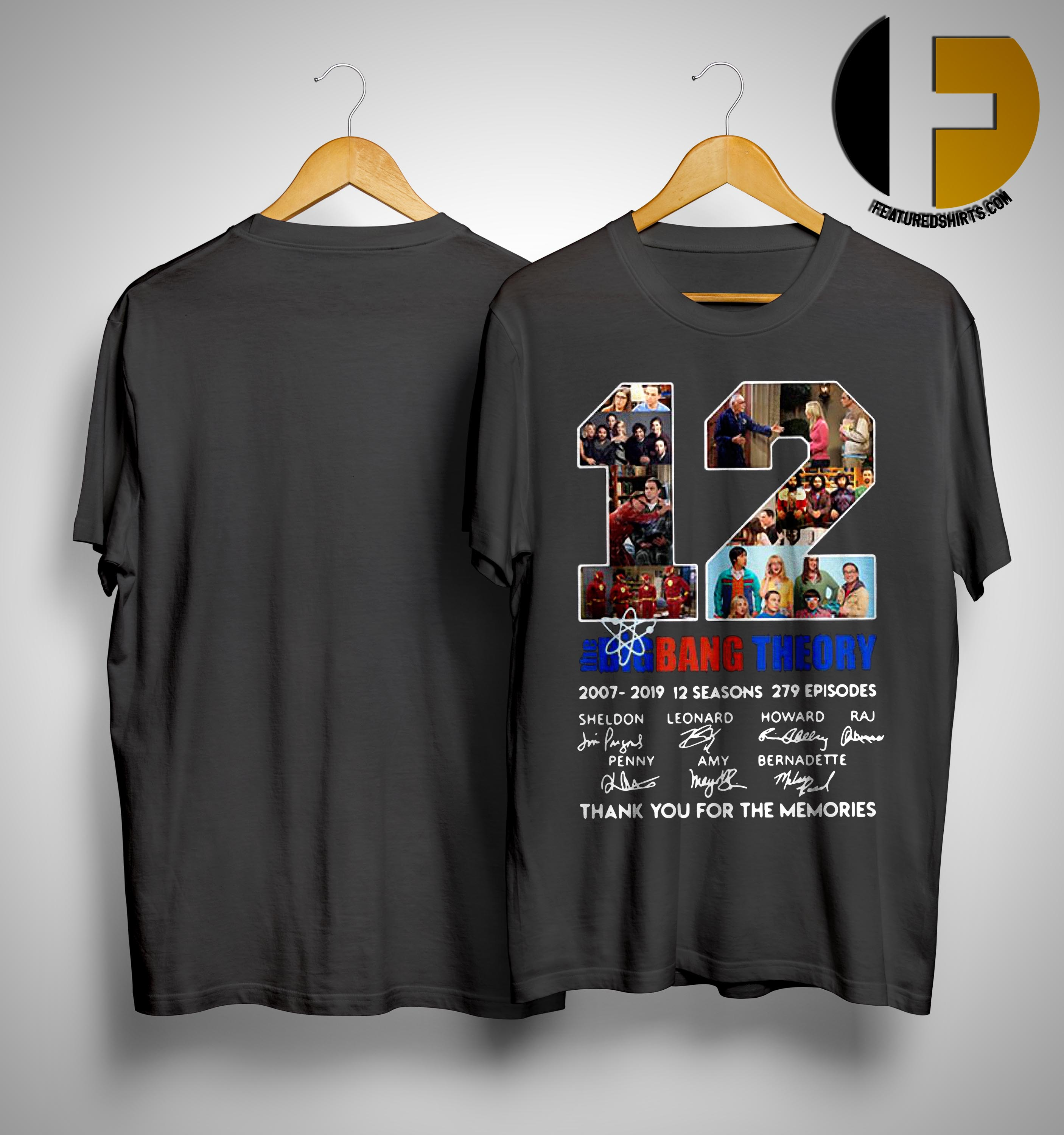d81b34881ee 12 Years The Big Bang Theory Thank You For The Memories Shirt