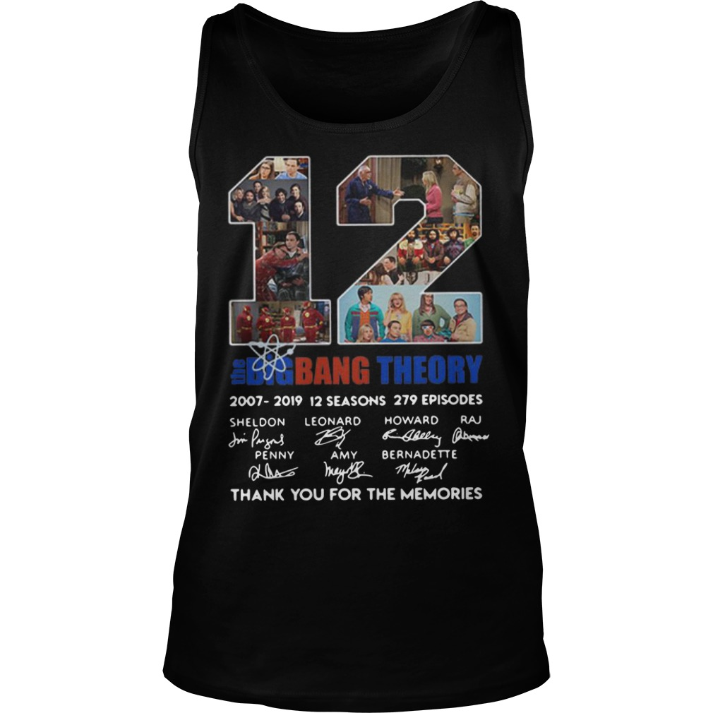 12 Years The Big Bang Theory Thank You For The Memories Tank Top
