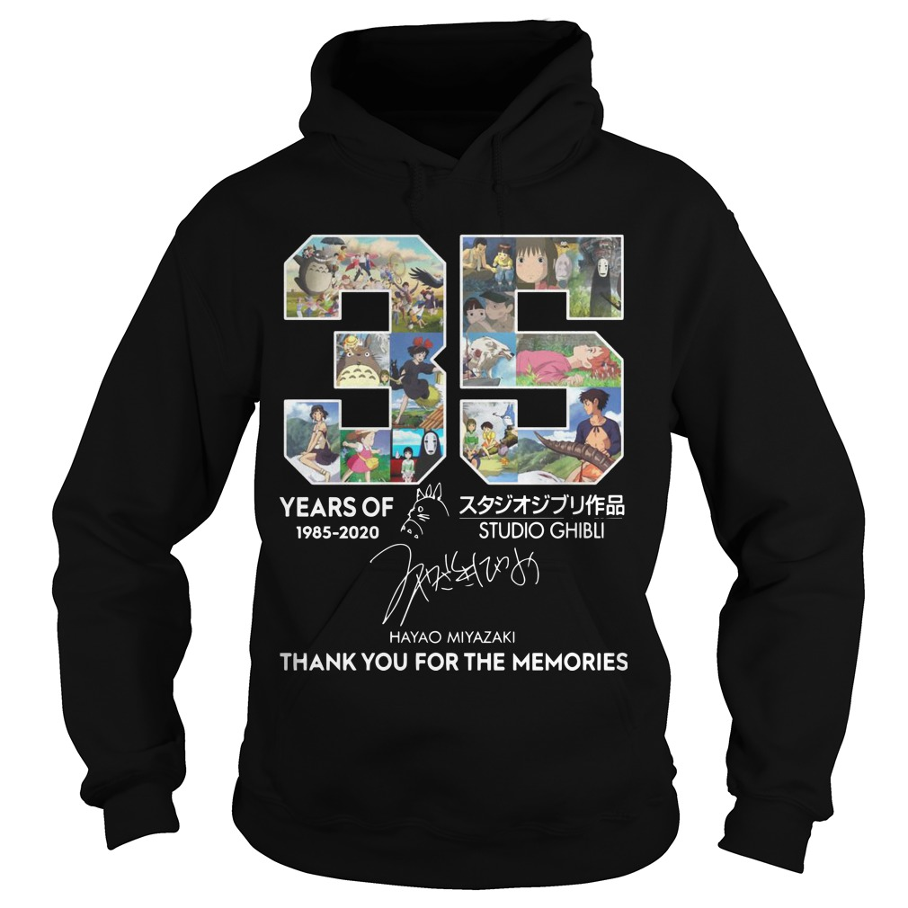 35 Years Of Studio Ghibli 1985 2020 Hayao Miyazaki Thank You For The Memories Hoodie