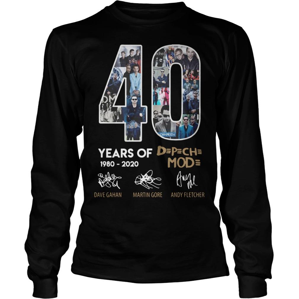 40 Years Of Depeche Mode 1980 2020 Longsleeve Tee