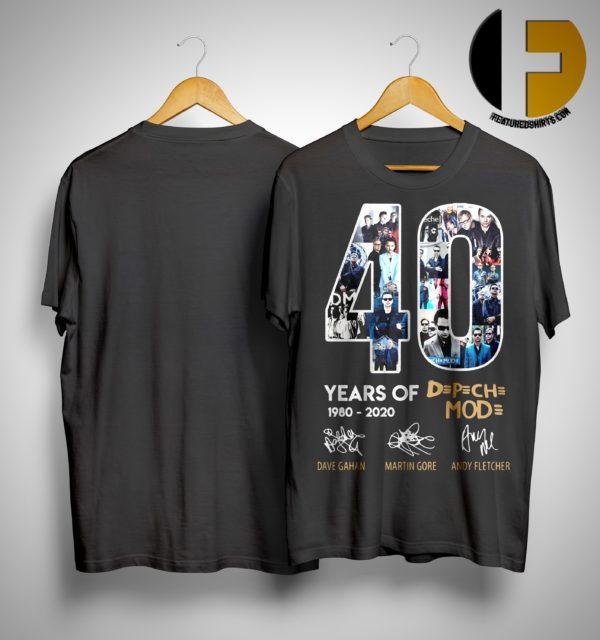 40 Years Of Depeche Mode 1980 2020 Shirt