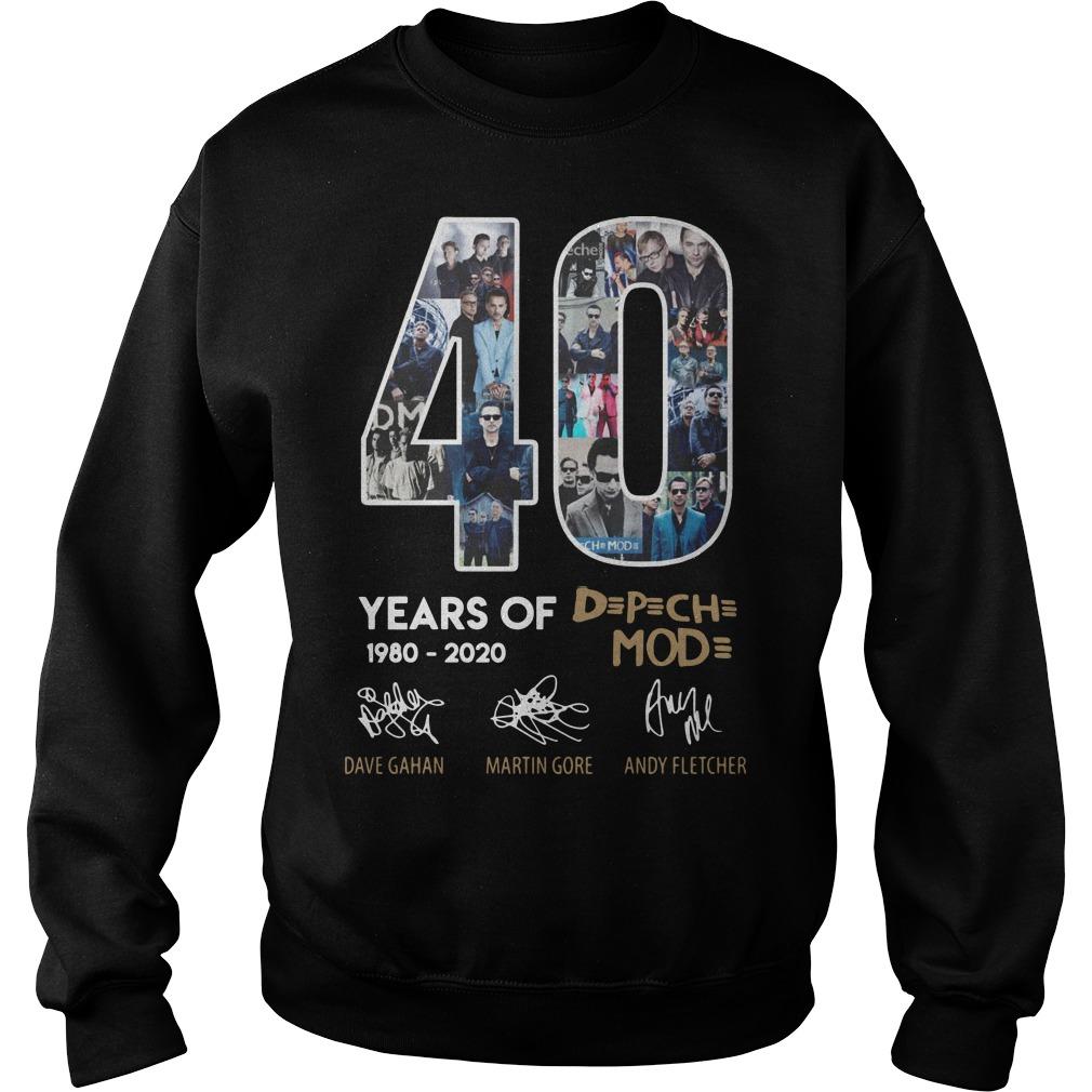 40 Years Of Depeche Mode 1980 2020 Sweater
