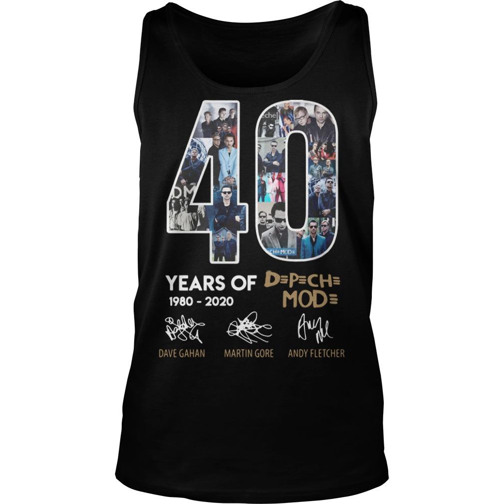 40 Years Of Depeche Mode 1980 2020 Tank Top