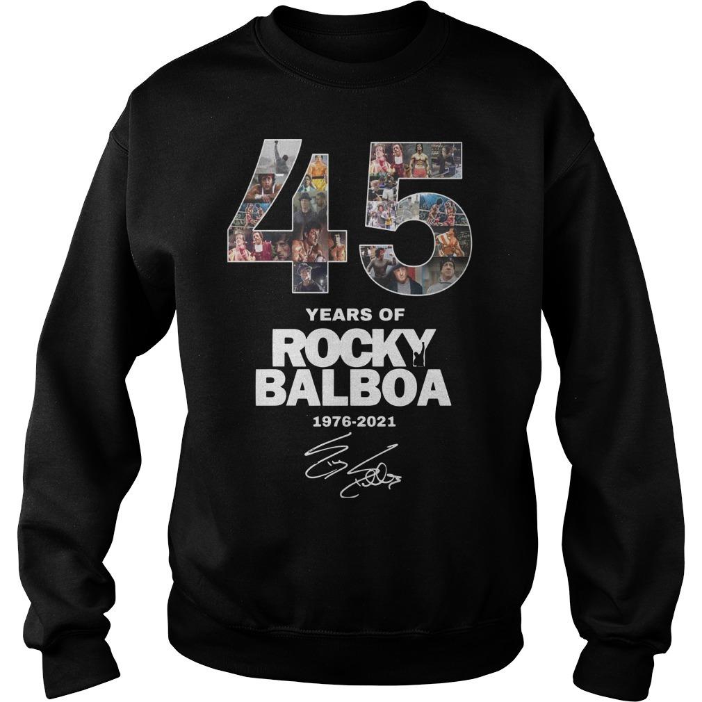 45 Years Of Rocky Balboa Shirt 1976 2021 Sweater