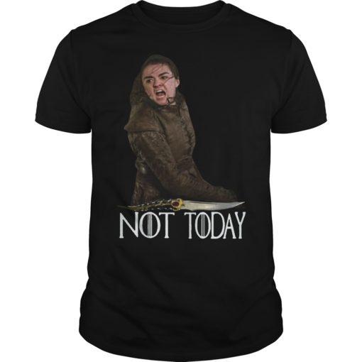 Arya Stark Catspaw Foam Blade Not Today Shirt