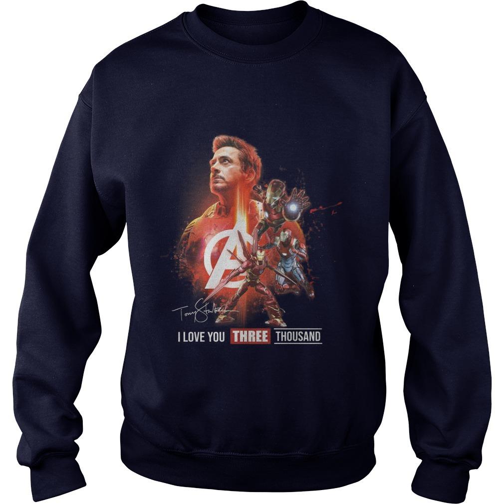 Avengers Tony Strak I Love You Three Thousand Sweater