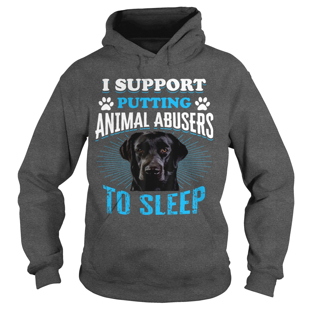 Beagle I Support Putting Animal Abusers To Sleep Hoodie