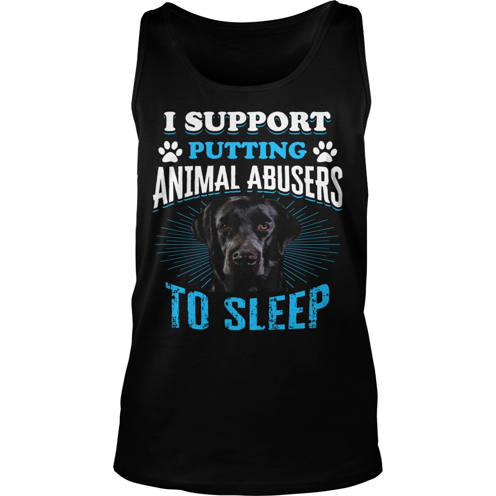 Beagle I Support Putting Animal Abusers To Sleep Tank Top