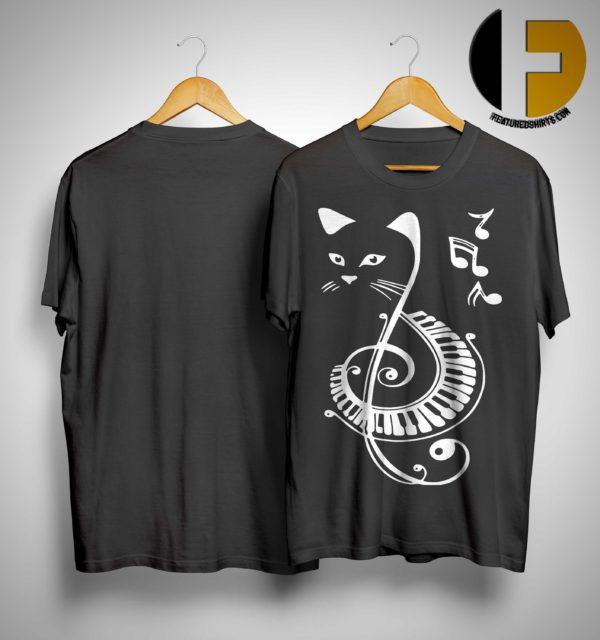 Cat Treble Clef Love Music Shirt