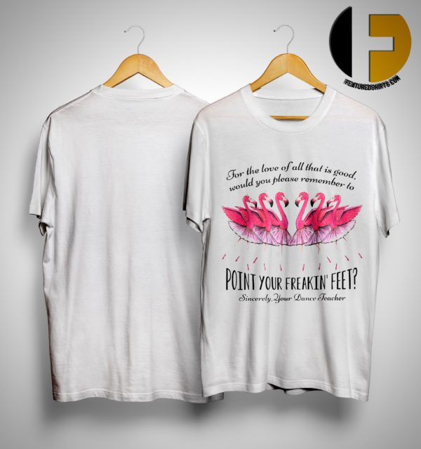 Flamingo For The Love Of All That Is Good Would You Please Remember To Point Your Freakin Feet Shirt