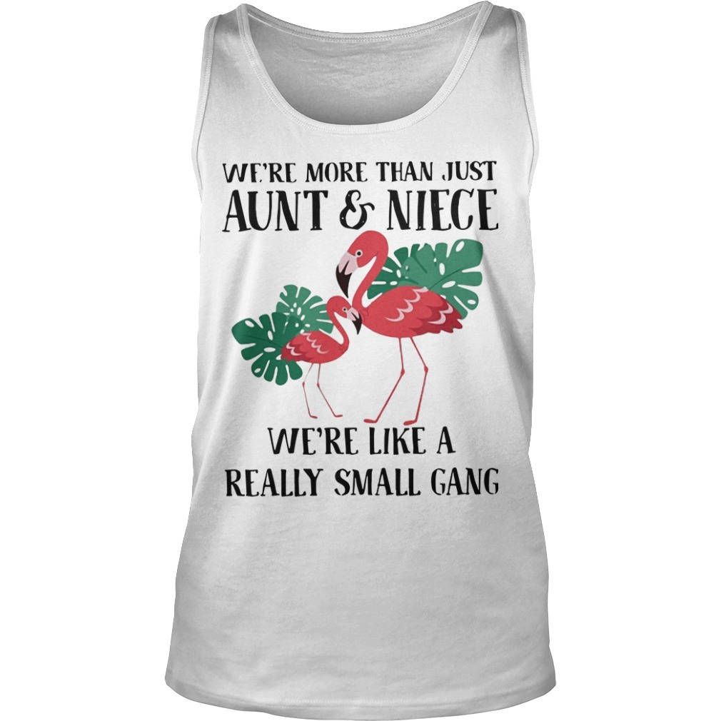 Flamingo We're More Than Just Aunt And Niece We're Like A Small Gang Tank Top
