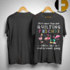 Flamingo We're More Than Just Quilting Friends Really Small Gang Shirt