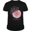 Flower Faith Hope Love Breast Cancer Awareness Shirt