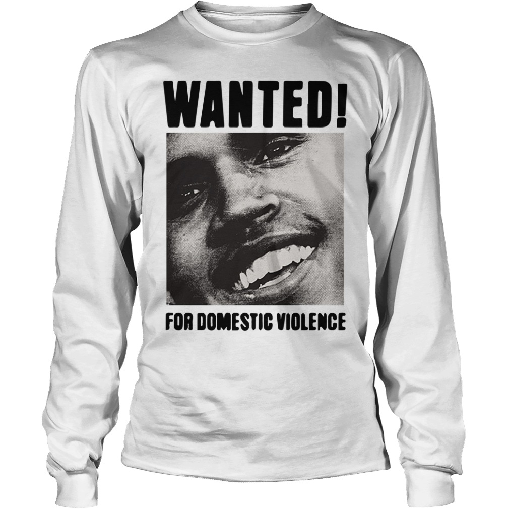 Frank Ocean Chris Brown Wanted For Domestic Violence Longsleeve Tee