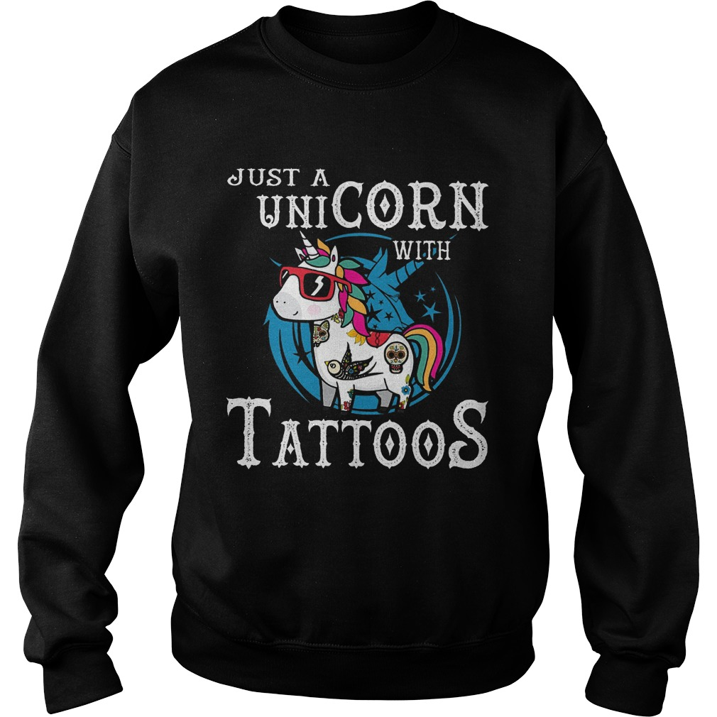 Hippie Unicorn Just A Unicorn With Tattoos Sweater