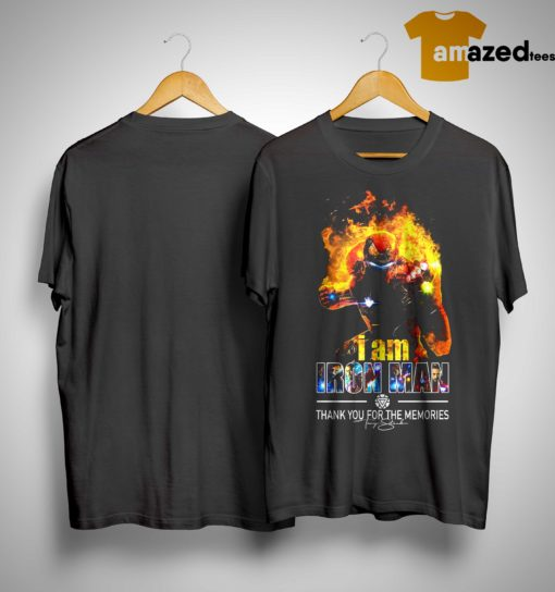 I Am Iron Man Thank You For The Memories Shirt