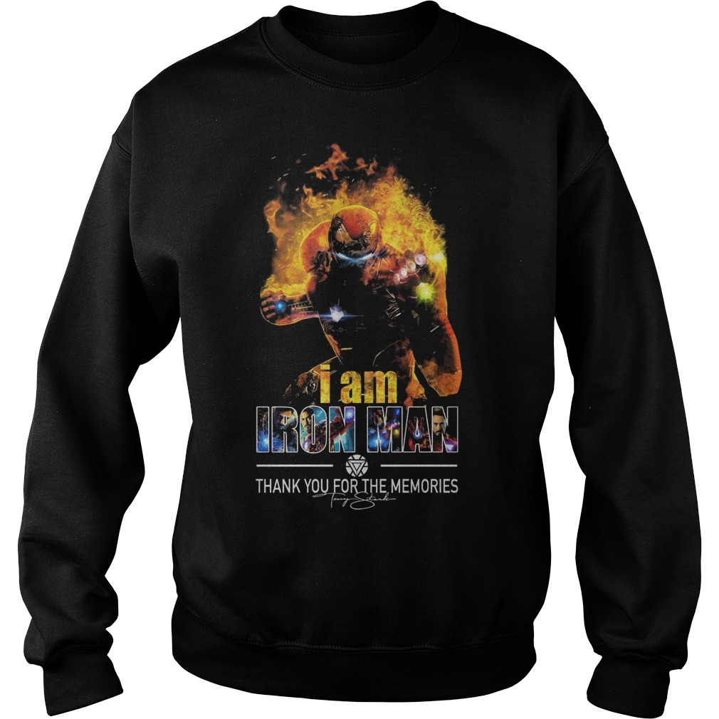 I Am Iron Man Thank You For The Memories Sweater