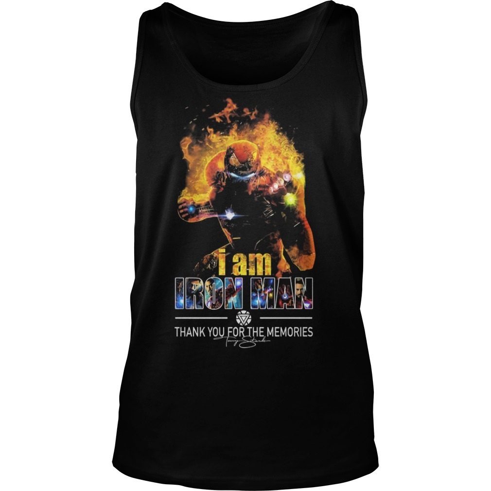 I Am Iron Man Thank You For The Memories Tank Top
