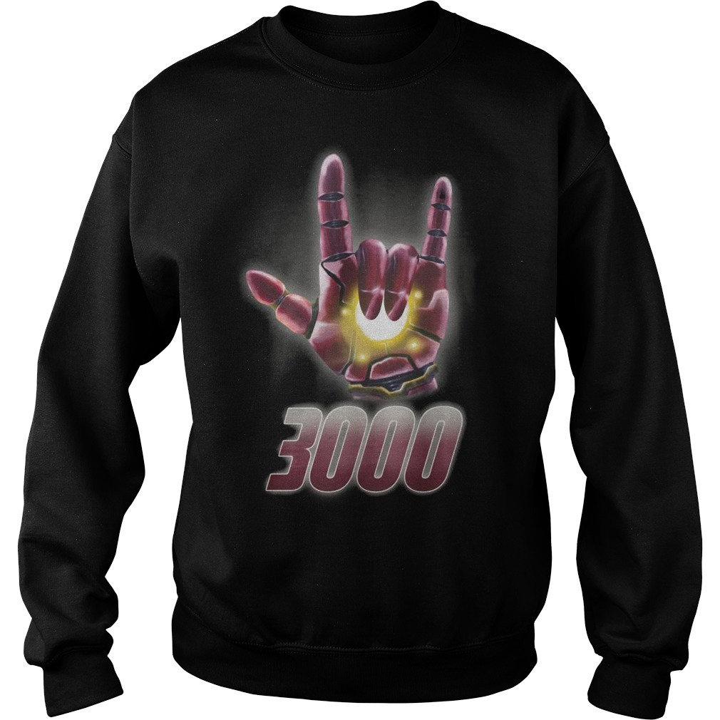Iron Man Deaf Pride I Love 3000 Sweater
