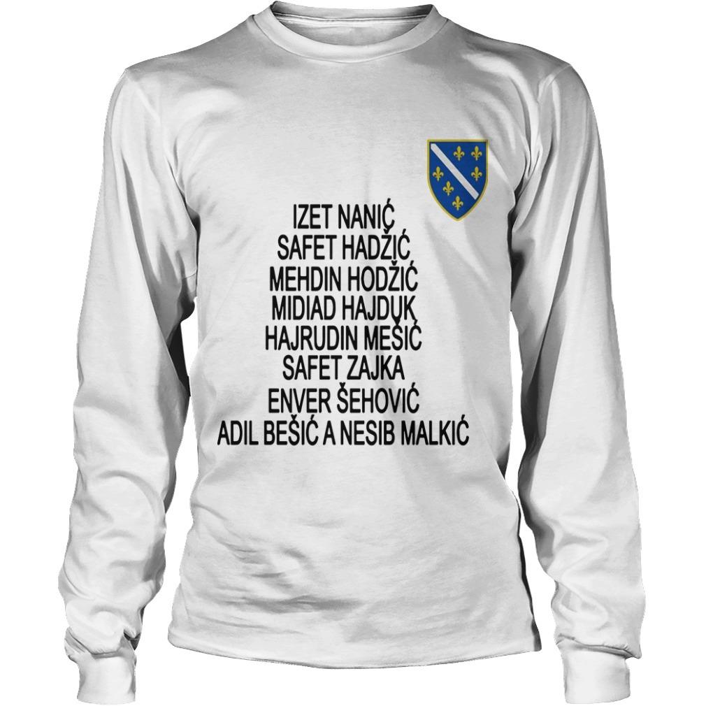 Jusuf Nurkic All Bosnian War Heroes Longsleeve Tee