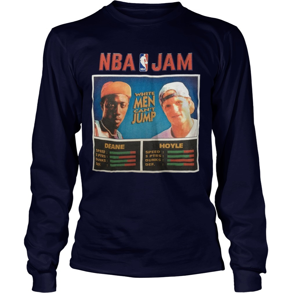 NBA Jam Deane Hoyle White Men Can't Jump Longsleeve Tee