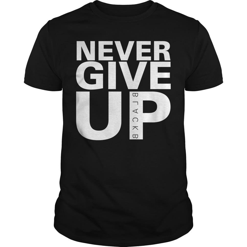 Never Give Up T Shirt Salah