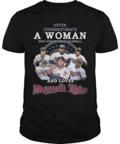 Never Underestimate A Woman Who Underestimates Baseball And Loves Minnesota Twins Shirt