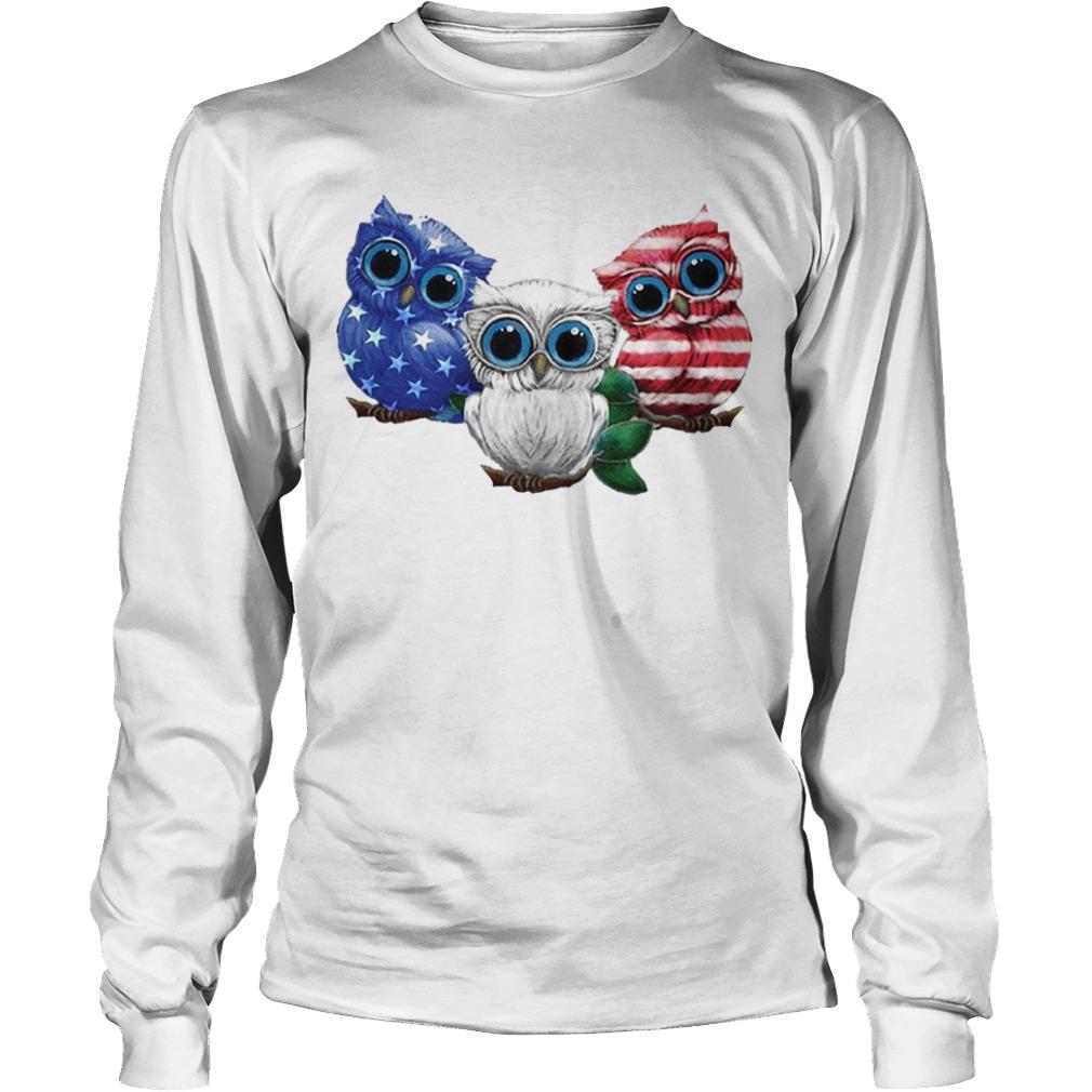 Owls American Flag Longsleeve Tee