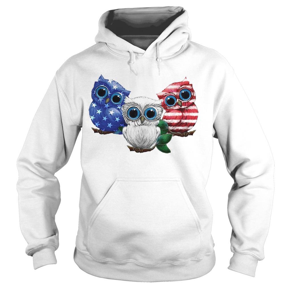 Owls American Flag hoodie