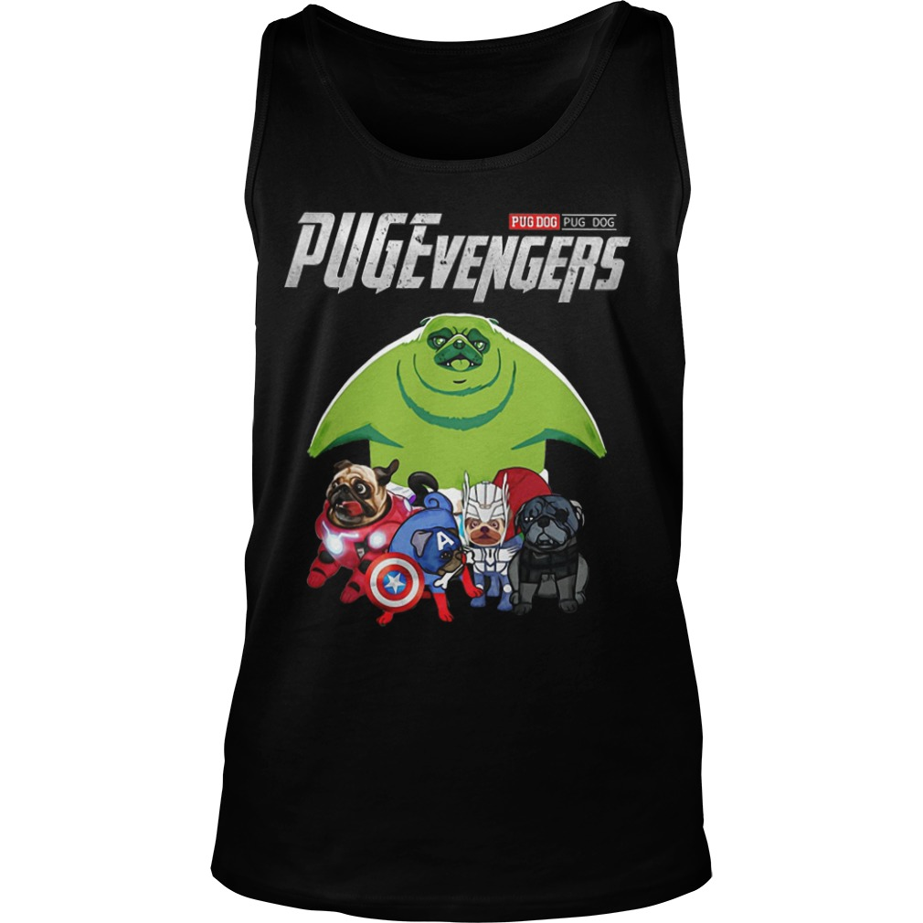 Pug Dog Pugevengers Tank Top