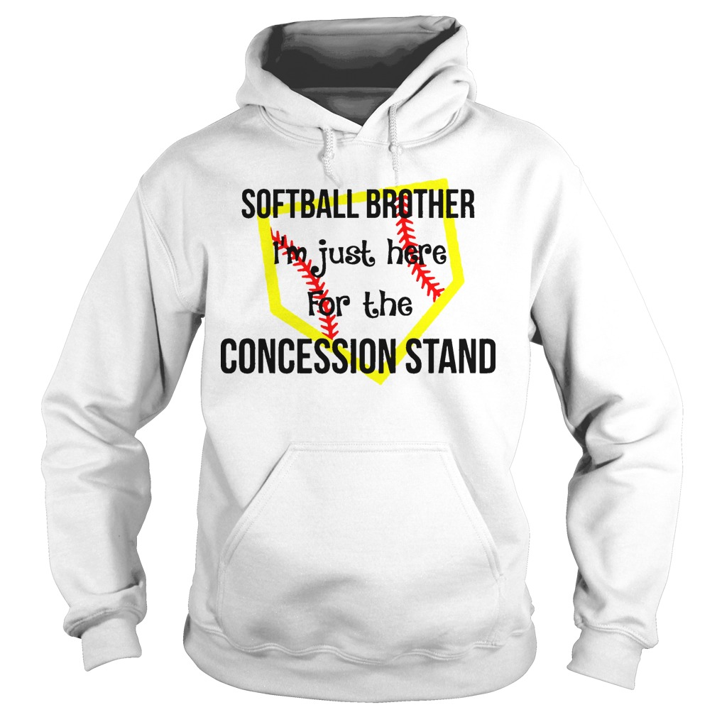 Softball I'm Just Here For The Concession Stand Hoodie