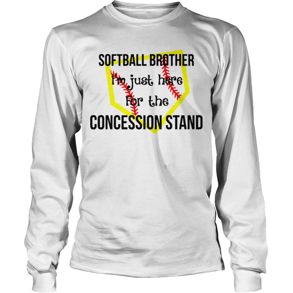 Softball I'm Just Here For The Concession Stand Longsleeve Tee