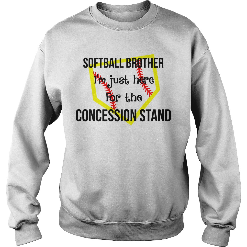 Softball I'm Just Here For The Concession Stand Sweater