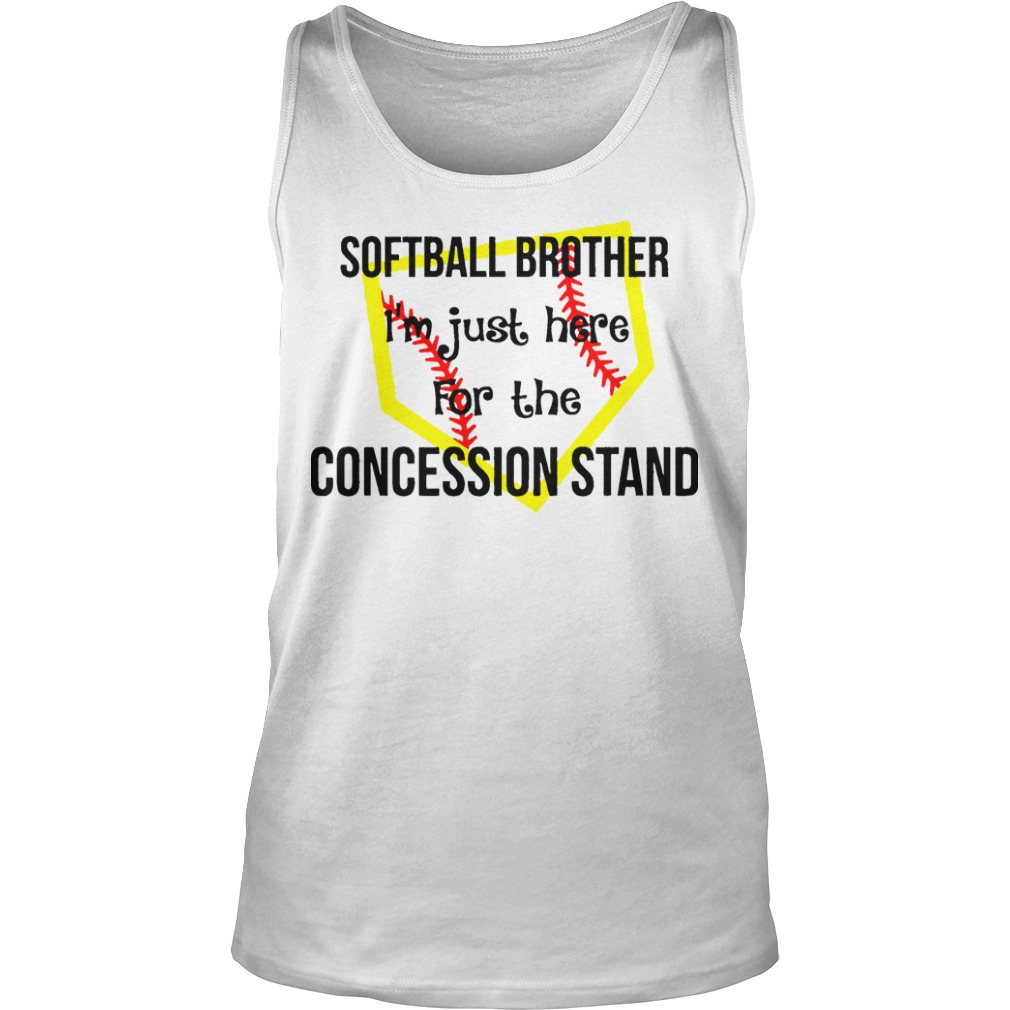 Softball I'm Just Here For The Concession Stand Tank Top
