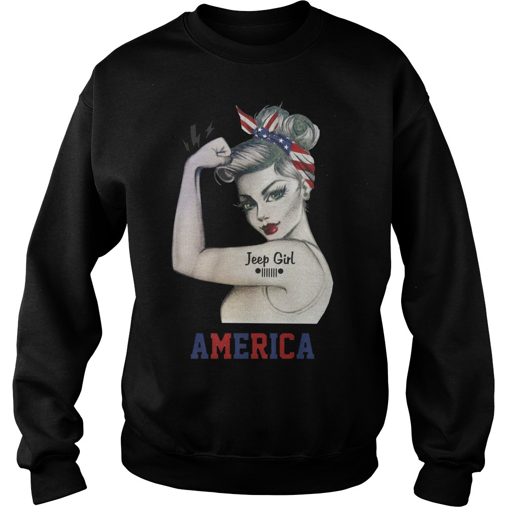 Strong Woman Jeep Girl America Sweater