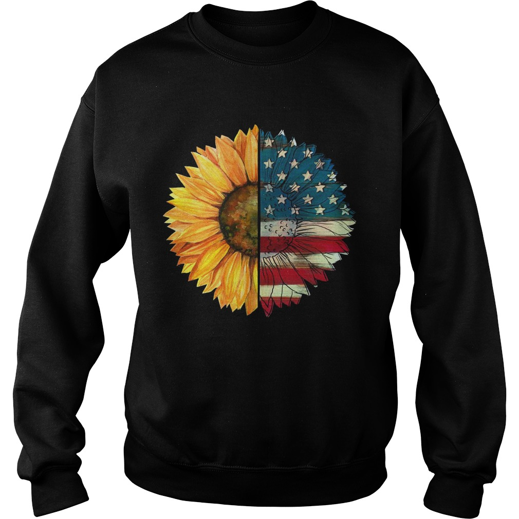 Sunflower American Flag Sweater