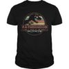 Sunset Dinosaur Fatherhood Like A Walk In The Park Shirt