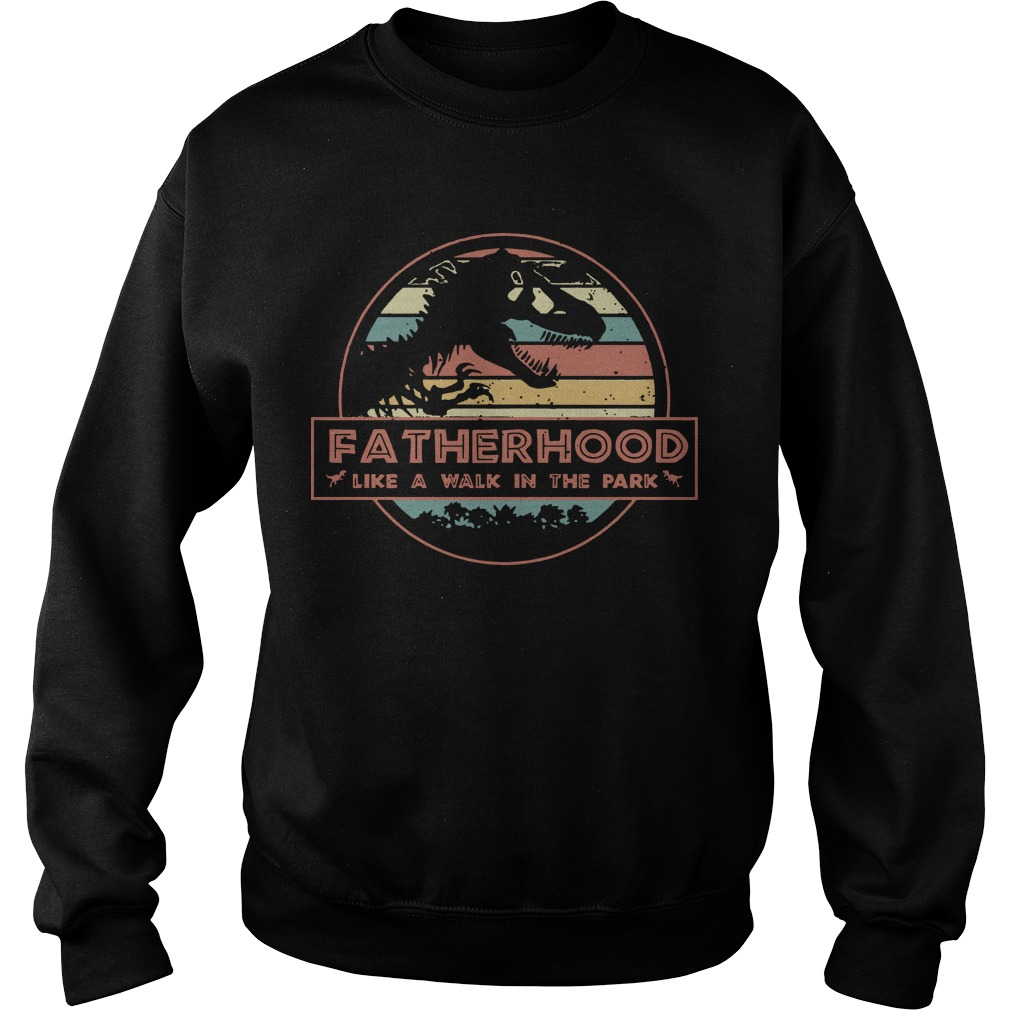 Sunset Dinosaur Fatherhood Like A Walk In The Park Sweater