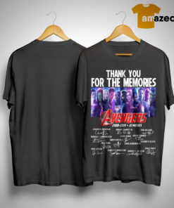 Thank You For The Memories Avengers 2008 2019 22 Movies Shirt