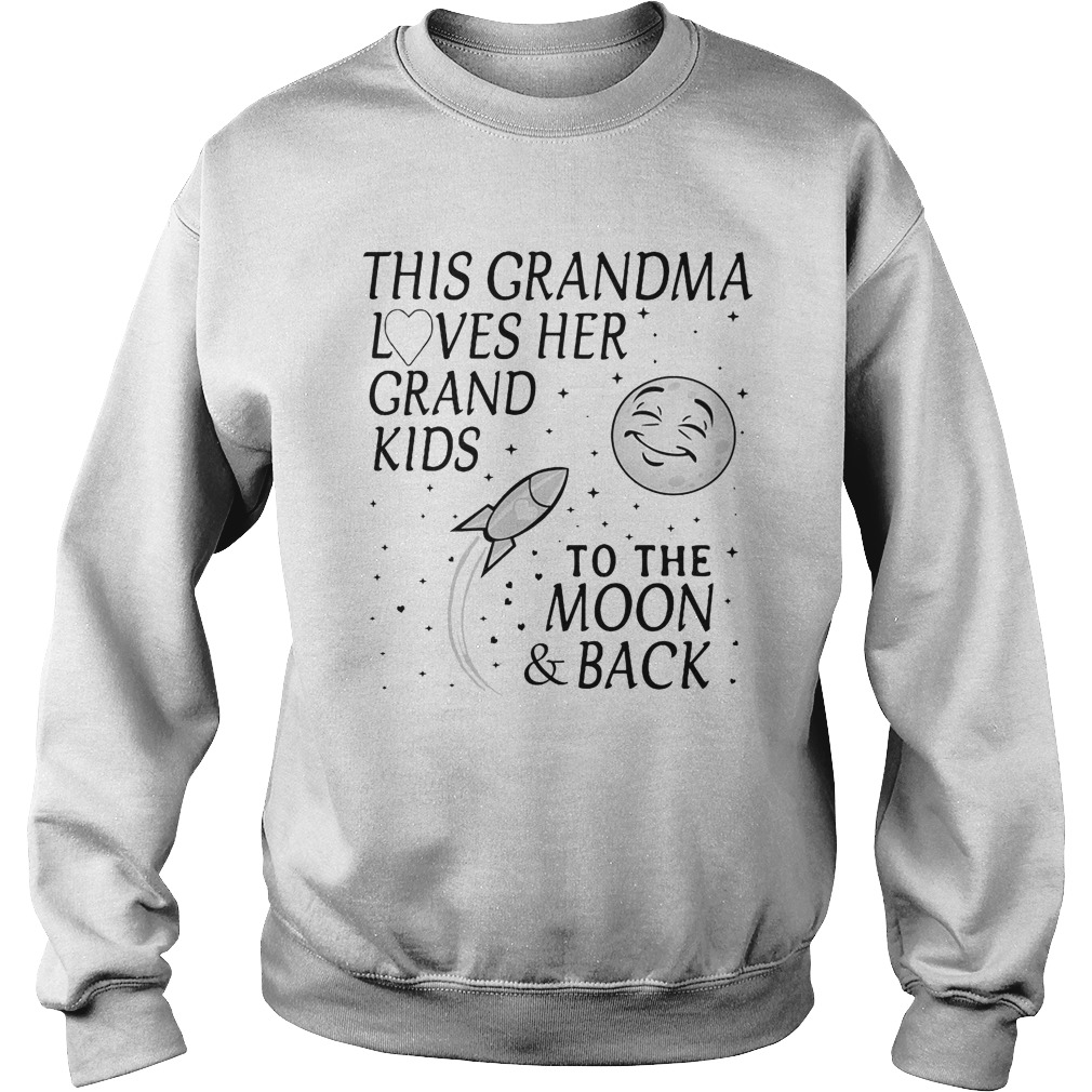 This Grandma Loves Her Grand Kids To The Moon And Back Sweater
