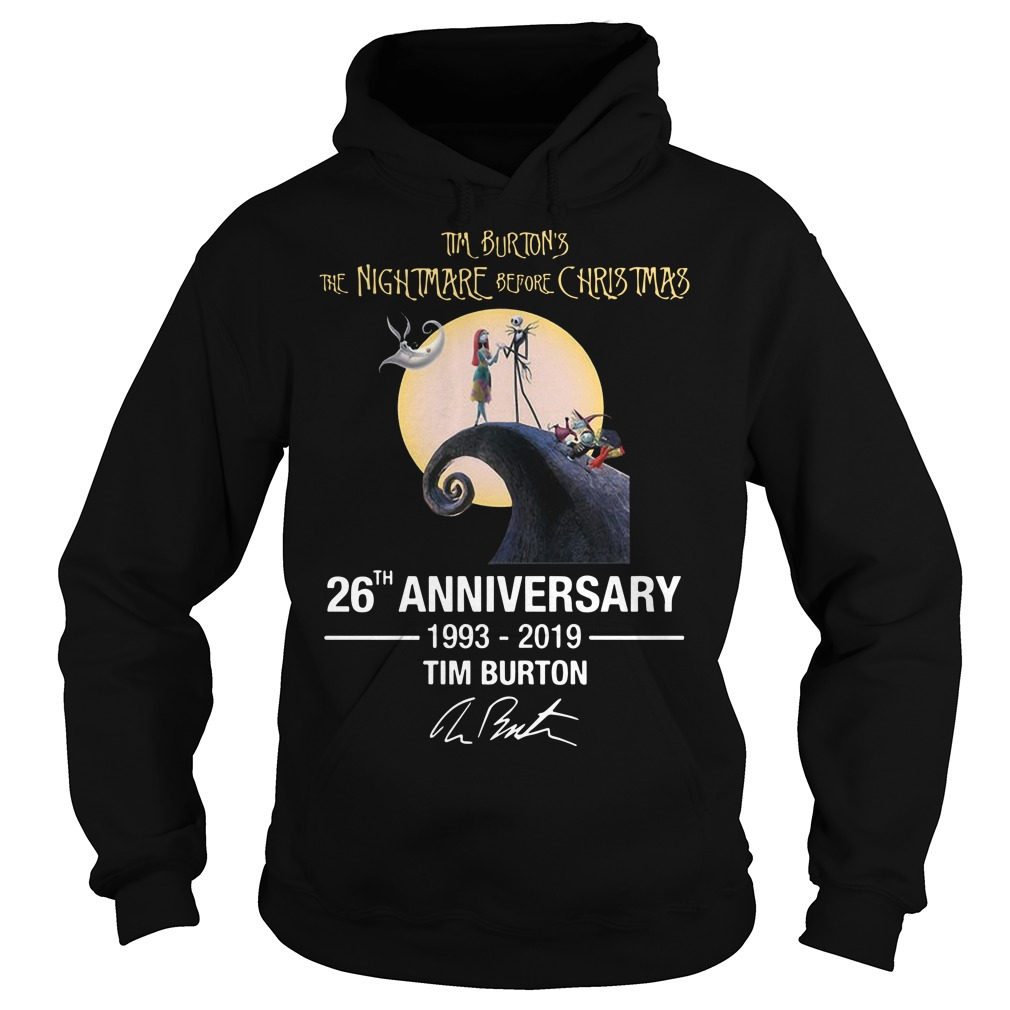 Tim Burton's The Nightmare Before Christmas 26th Anniversary 1993 2019 Hoodie
