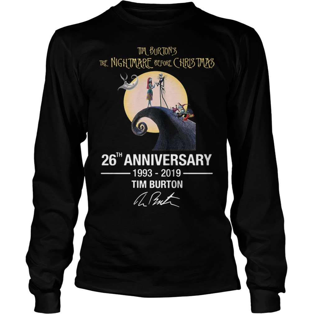 Tim Burton's The Nightmare Before Christmas 26th Anniversary 1993 2019 Longsleeve Tee